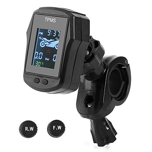 Teabelle Monitor de presión de los neumáticos inalámbrico Sensor Externo de Motocicleta TPMS Motor de Bicicleta eléctrica Monitoreo de Temperatura de neumáticos Sistema de Alarma