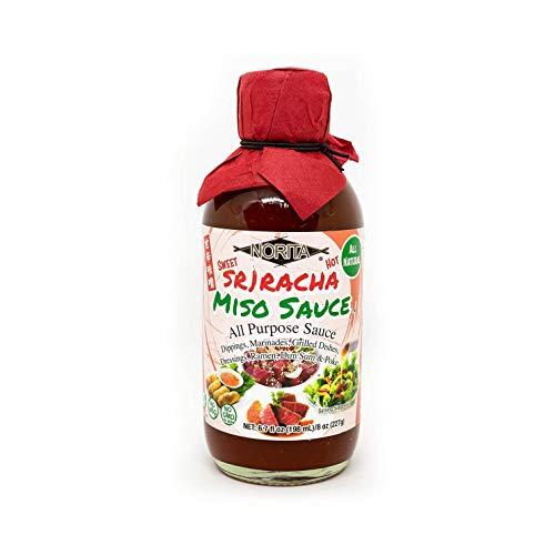Norita - Sweet Sriracha Miso Sauce, All Purpose Sauce, Dipping Sauce, Marinades Sauce, All Natural