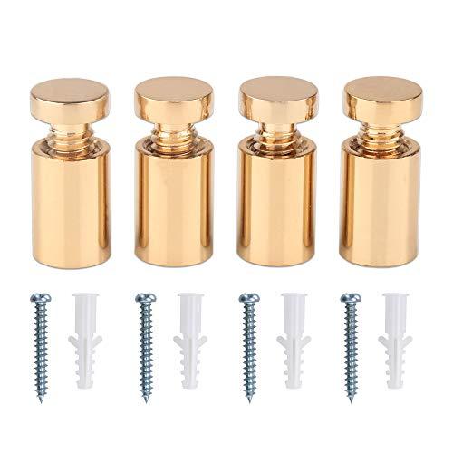 TOPNIKE Brass Flat Top Sign Standoffs, Standoff Holder Screw, 1/2