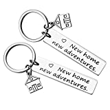 for New Home Keychain New House Keychain First Home Gift Housewarming Gift Realtor Closing Gifts House Keyring,2 Pcs