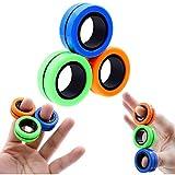 QJHLG Anillos magnéticos antiestrés Fidget Unzip Toy Magic RingTools Anillo magnético para niños Anillo Spinner para Dedos Juguetes de descompresión para Adultos