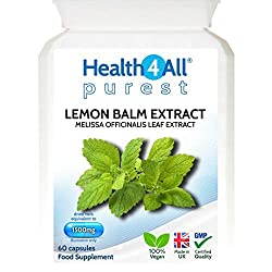 CHOOSE QUALITY - OUR LEMON BALM EXTRACT CAPSULES CONTAIN NO ADDITIVES AND ARE 100% VEGAN Lemon Balm, also known as Melissa, is a herb used since ancient times. Usually it is associated with relaxation however it offers far more benefits. The main act...