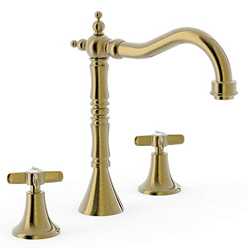 Bimando lavabo Tres-Clasic Color, instalación libre, angulo de giro de 360 grados, volante, 19 x 25 x 25 centímetros, color latón viejo (Referencia: 24210501LV)