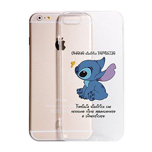 Social Crazy Cover iPhone XS -XR -XS Max - 8-8 Plus - X - 6-6 Plus - 6S - 6S Plus -7-7 Plus - L. E S. - Ohana Trasparente Vari Colori AntiGraffio Antiurto Case Custodia