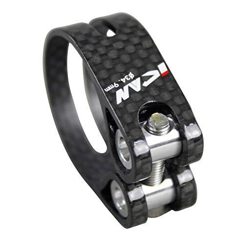 YKWYQ - Abrazadera para sillín de bicicleta de carretera (fibra de carbono, 34,9 mm)
