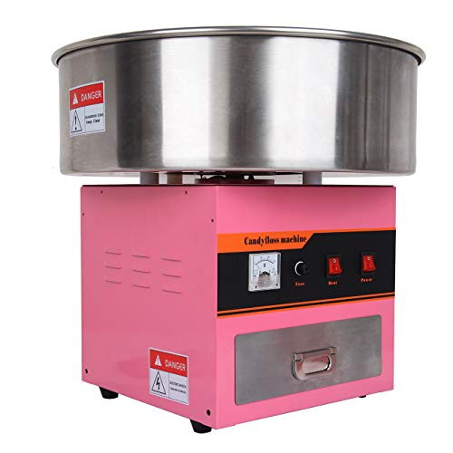 TryESeller 1300W Macchina per Zucchero Filato Professionale Elettrico Macchina per Fare lo Zucchero Filato con Padella Staccabile Cotton Candy Machine