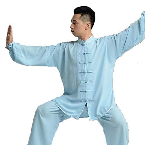 tai chi Uniform Kung Fu Kampfsport Trainings Kleidung Anzug Baumwolle Plus Seide Leistungsfitness,Blue-M