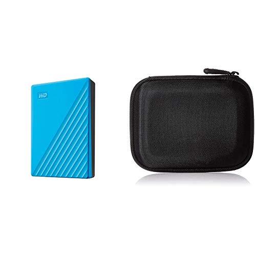 【セット買い】WD ポータブルHDD 5TB USB3.0 ブルー 暗号化 パスワード保護 My Passport 2019モデル WDBPKJ0050BBL-WESN & Amazonベーシック HDD ケース ポータブルHDD キャリングケース