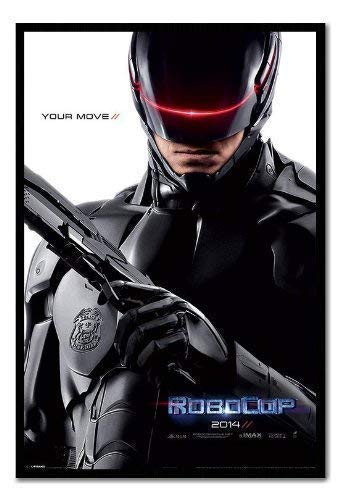 Robocop 2014Teaser Poster Kork Pinnwand, schwarzer Rahmen, 96,5x 66cm (ca. 96,5x 66cm)