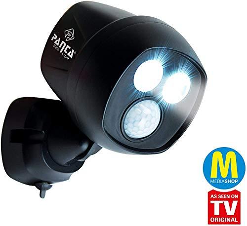 MediaShop Panta Safe Light – LED Strahler für innen und außen – Außenleuchte mit Bewegungsmelder und Tageslichtsensor – wetterfeste LED Außenbeleuchtung