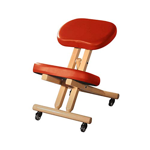 Master Massage Comfort Plus Wooden Kneeling Chair Prefect for Home, Office & Meditation (Cinnamon) 19.8 Pounds