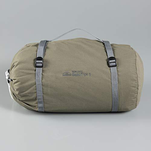 BUNDOK(バンドック)ソロティピー1TCBDK-75TC【1人用】カーキ色ワンポールテント混紡綿フルクローズスカート巻き上げ式