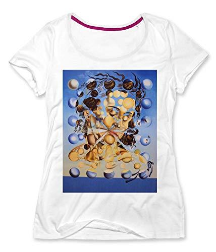 Bubble Woman by Salvador Dali Frauen Rundhals T-Shirt Small