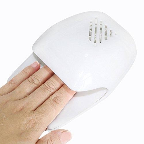 Sasairy Secador de uñas mini para dedos de los pies, secado rápido, herramienta de secado al aire libre, secador, ventilador de secado a máquina para esmalte de gel