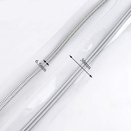 THNQ 5 / 10m 5# PVC Nylon Ritsen for Naaien DIY Zip Sport Regenjas Pencilbag make-up tas Zipper het naaien van kleding accessoires (Color : Silverteeth, Size : 10meters)