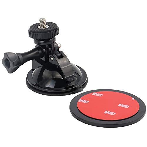 Exshow mini supporto ventosa per gopro hero 7 6 5 4 e altre macchina fotografica (contenere cuscinetti adesivi 3 m and 1/4 vite filo)
