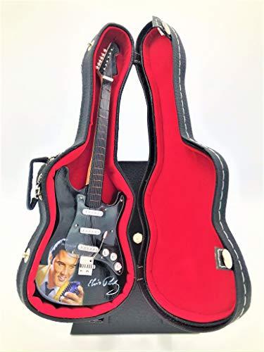 Miniature Fender Stratocaster Guitar - Elvis Presley - (Includes Hard Case)