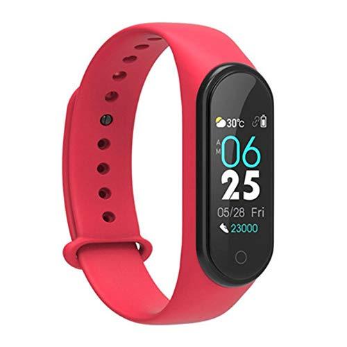 Yumanluo Smartwatch,Pulsera Fitness Smart para Mi Band Android iOS-Rojo,Reloj Inteligente con Pulsómetro