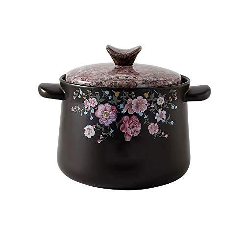 SHYOD Ceramic Casserole, Stew Pot, Household Ceramic Soup Pot Casserole Soup Pot Fire-resistant Heat-resistant Pot Hot Pot Kitchen Pot Cookware Pot