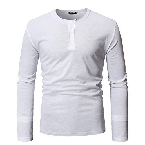 T-Shirt da Uomo a Maniche Lunghe t-Shirt all-Match all-Match