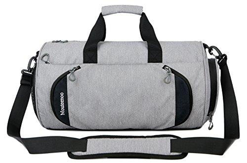 Mouteenoo Sporttasche für Damen und Herren, fürs Fitnessstudio und für den Sport, mit Schuhfach Grau grau XS