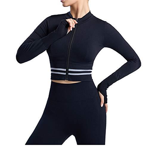 Chaqueta deportiva casual para mujer con cremallera cómoda y casual