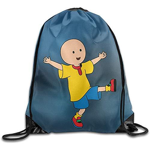 Drawstring Backpack Caillou Cinch Bags Mochila con Cordón Mochilas con Cordón Casual Print Moda Viaje Casual Escuela Durable Estudiante Unisex Senderismo