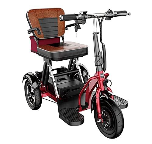 Mini triciclo eléctrico Old Scooter, scooter de movilidad de viaje de 10...