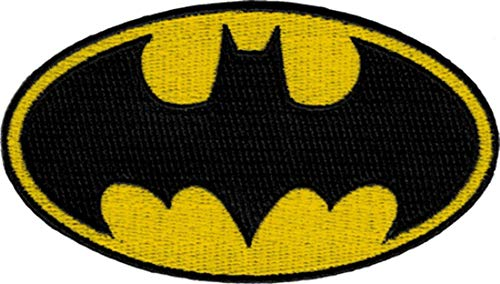 Batman Dark Knight DC Comics Movie Classic Bat Logo Iron On Applique Patch DC08