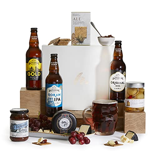 Ploughmans Beer and Cheese Hamper - Summer Beer Hampers - Real Ale and Cheese Gift Basket & Hampers - Beer and Cheese Hamper