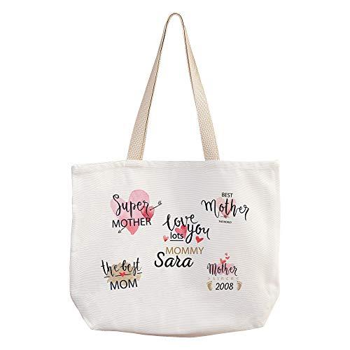 LolaPix Bolsas Piscina Mujer Personalizadas con Nombre/Texto. Regalos Dia de la Madre Personalizados. Varios diseños. Mother