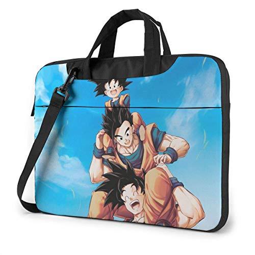 Bolso Bandolera para Laptop, Bolso japonés Anime DBZ Goku Family Fan Art, Funda para computadora para MacBook Chromebook