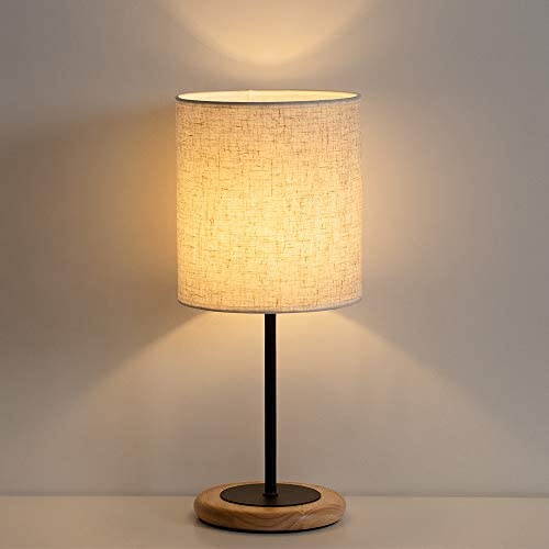 HAITRAL Modern Table Lamp Nightstand Lamp Bedside Desk Lamp for Bedroom Office College Dorm product image