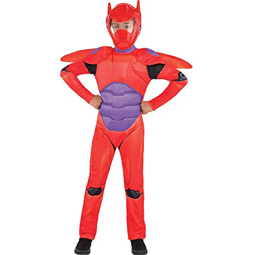 Suit Yourself Big Hero 6 Red Baymax Costume for Boys, Size Small, Includes a Jumpsuit, a Mask, Shoulder Pads, and Wings