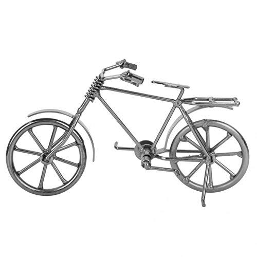 RCFRGV Kleine versieringen vintage figuur mini fiets model metaal fiets home desktop decoratie