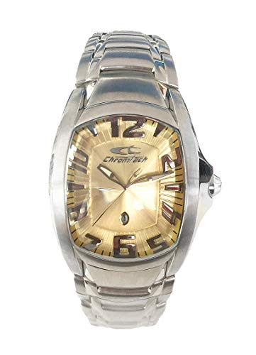 Chronotech Unisex Erwachsene Analog Quarz Uhr mit Edelstahl Armband CT7988L-12M