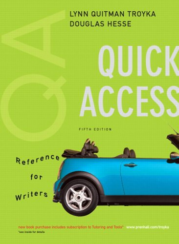 Quick Access, Reference for Writers (MyCompLab Series)