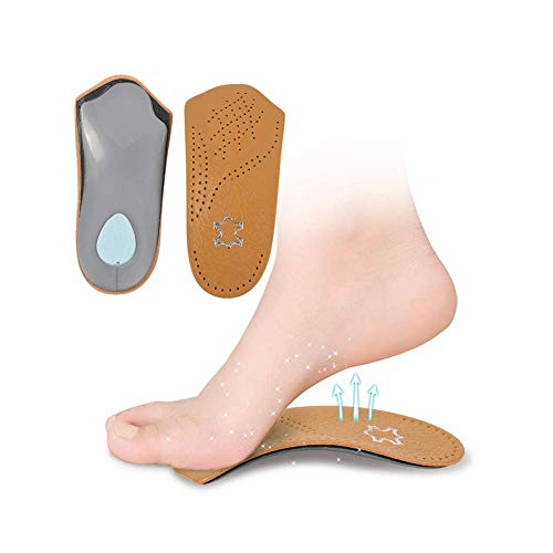 RGA 3/4 Leather Orthotic Inserts with Metatarsal Pad, Arch Support and Padding at The Heel (W9-10 M7 EU39-40)