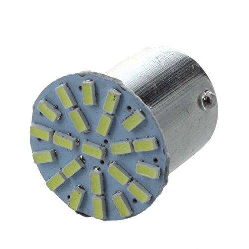 Gaoominy 10 x Bombilla Lampara 1156 1206 SMD 22 LED Luz Blanco Marcha Atras Lateral Coche