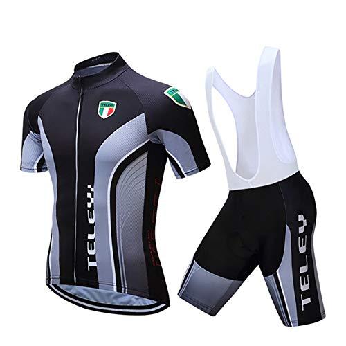 Conjunto de Maillot de Ciclismo de Verano, Trajes de Bicicleta Transpirables Team...
