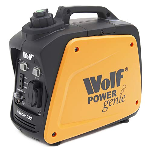 Wolf 800w Petrol Generator Portable Inverter Suitcase Lightweight Power Genie 2.5HP 4 Stroke Engine