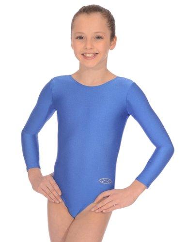 The Zone Z102RHA - Maillot de gimnasia de manga larga (nailon/lycra, talla 76,2 cm), color azul
