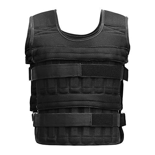 ROSEBEAR Chaleco de peso, 15 kg, chaleco de peso ajustable para entrenamiento de fitness (bolsillos vacíos, pesos no incluidos).