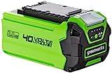 Greenworks Batería G40B2 2ª generación (sistema de carga rápida de Li-Ion 40V 2 Ah sin autodescarga, apto para todos los dispositivos y baterías de la serie 40V de Greenworks Tools)