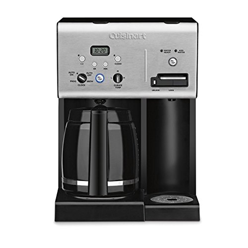 Cuisinart 12-Cup Programmable Coffee Maker 1 Cubic ft, Black/Stainless (Renewed)
