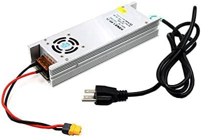 OUYBO LANTIAN 24V 16.6A 400W Fuente de alimentación Adaptador XT60 for Q6 B6 cargador de batería RC aviones no tripulados FPV Racing Accesorios de batería de piezas RC (Color : UK Plug)