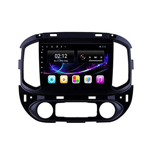 2 DIN Bluetooth Radio Coche Autoradio, para Chevrolet Colorado 2015-2017, con 9 Pulgadas HD Pantalla Táctil, Soporte Bluetooth Manos Libres/Mirror Link/FM/1080P Video/USB,Octa Core,4G WiFi 2+32