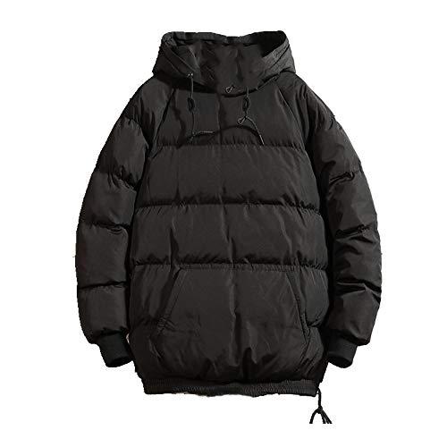 invierno suelto de los hombres cálido abrigo con capucha corto de los hombres grueso de la chaqueta de enjambre de los hombres