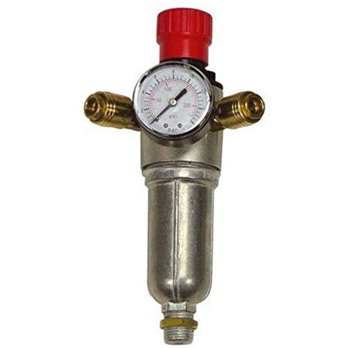 Filtro-reductor de presión PU4 1 x 1,27 cm AG y 2 x 0,64 cm rosca interior Kompress