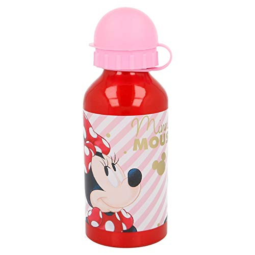 Disney Minnie Mouse Electric Doll Trinkflasche aus Aluminium, 400 ml